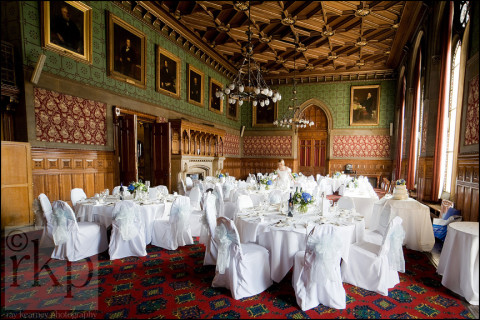 Lord Mayor's Parlour, Manchester Town Hall set out for a wedding breakfast