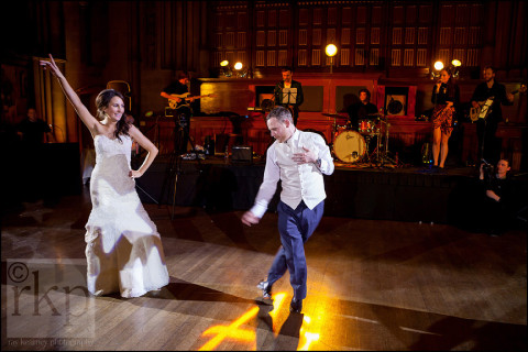 Bride and Groom go through their dance routine, Manchester Town Hall