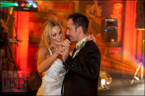 Bride and Groom have their first dance, Manchester Town Hall